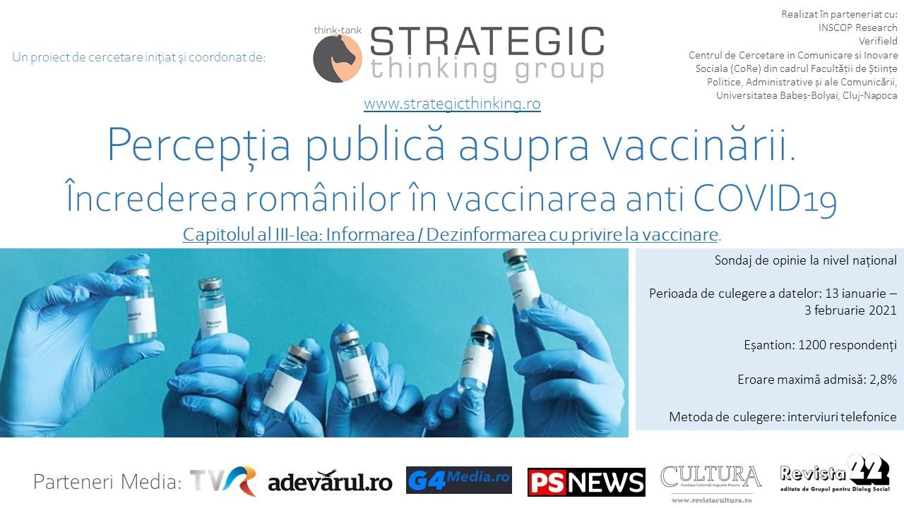 [:ro]10 FEBRUARIE 2021: Percepția publică asupra vaccinării. Încrederea românilor în vaccinarea anti COVID19 – CAPITOLUL al III-lea[:]